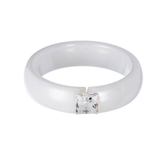 Ceramic Ring - Kerámia gyűrű - PRECIOSA kristály gyűrű